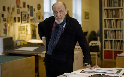 Milton Glaser in his New York studio in 2014. Photo by Neville Elder/ Corbis via Getty Images via JTA