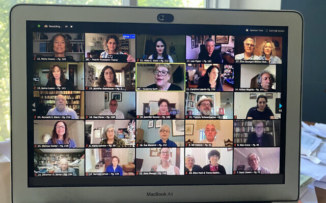 Authors presented their books virtually during the conference.Photo courtesy of Jewish Book Council via JTA