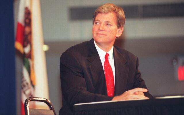 David Duke in 1996. (Brian Vander Brug/Los Angeles Times via Getty Images)