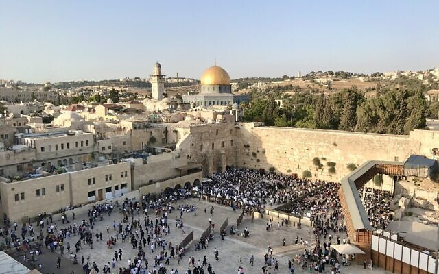 The Western Wall on Tisha B'Av 2017. Photo by Kayla Steinberg.