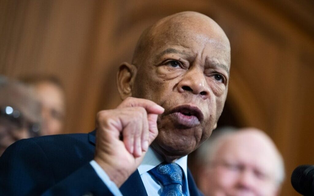 Rep. John Lewis speaks at a news conference in the Capitol on the Voting Rights Advancement Act, Dec. 6, 2019. (Tom Williams/CQ-Roll Call, Inc via Getty Images)