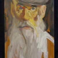 """Self portrait,"" oil on canvas"