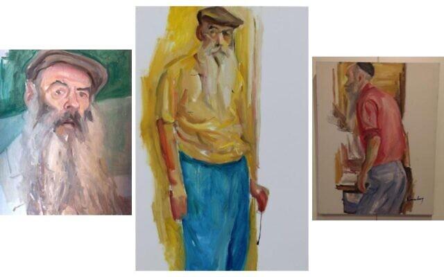 Raphael Eisenberg self-portraits in oil. All works courtesy of Raphael Eisenberg