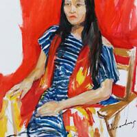 """Chen Shen,"" oil on canvas"