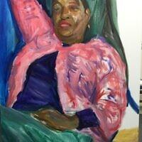 """Linda Johnson,"" oil on canvas"