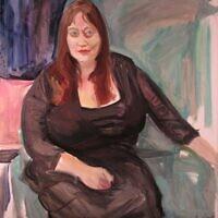 """""""Anna,"""" oil on canvas"""