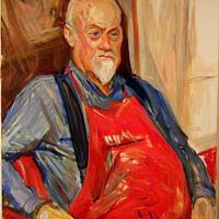 """""""Myron,"""" oil on canvas"""