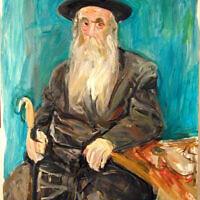 """Rebbe,"" a portrait of the Ziderchover Rebbe, oil on canvas"