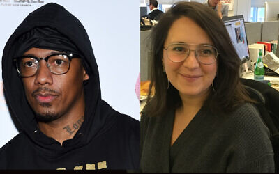 Nick Cannon, left, reviewed the book about anti-Semitism that Bari Weiss, right, published in 2019. (Amanda Edwards/Getty Images, Josefin Dolsten)