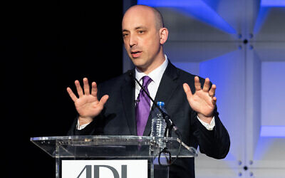 Jonathan Greenblatt, ADL CEO and national director, at the Anti-Defamation League (ADL) National Leadership Summit in Washington, DC. (Photo by Michael Brochstein/SOPA Images/LightRocket via Getty Images)