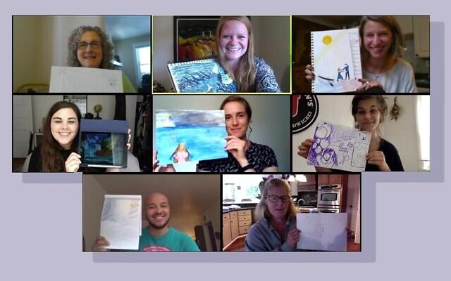 JFCS staff enjoys art therapy, helping combat stress during the pandemic. (Photo provided by Angelica Miskanin)