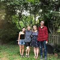 Moishe House Pittsburgh residents (from left): Marisa Cohen, Kayla Reiman, Diana Baron and Moses Levi. Photo by Marissa Walter.
