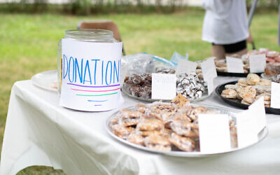 Toby and Casey Lazear hosted a bake sale fundraiser. Photo courtesy of Toby Lazear