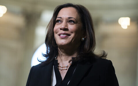 Sen. Kamala Harris in the Russell Senate Office Building, June 24, 2020. (Tom Williams/CQ Roll Call/Getty Images)