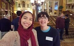 Roni Sosis, right, and fellow Carnegie Mellon University students participate in IMPAQT, a CMU program for fostering relationships between students at the university's Pittsburgh and Middle East campuses. Photo courtesy of Roni Sosis
