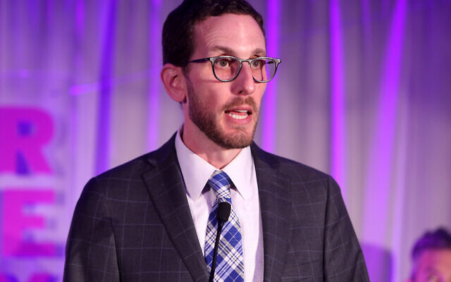 California State Sen. Scott Wiener speaks at the Lambda Legal West Coast Liberty Awards in Beverly Hills, California in 2018. Photo by Randy Shropshire/Getty Images via JTA