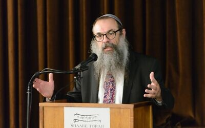 Rabbi Moishe Mayir Vogel at the Aleph Institute's Jewish Chaplains Conference. Photo by Eliron Shkeidi.