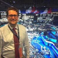 Dan Siegel pictured at the 2016 Democratic National Convention. Photo courtesy of Dan Siegel.