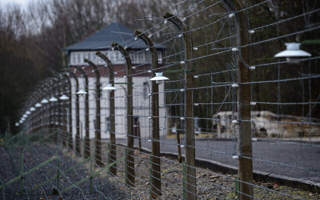 A view of the former Buchenwald concentration camp in Weimar, Germany, Jan. 26, 2018. (Jens Schlueter/Getty Images via JTA)