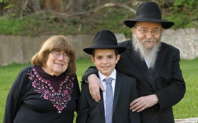 Rabbi Ephraim and Miriam Rosenblum at the bar mitzvah of their grandson Nochum   (Photo by Eliran Shkedi)