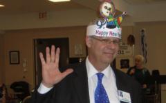 Rabbi Eli Seidman on New Year's Eve at the JAA (Photo provided by the JAA)