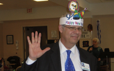 Rabbi Eli Seidman on New Year's Eve at the JAA (Photo provided by the JAA)