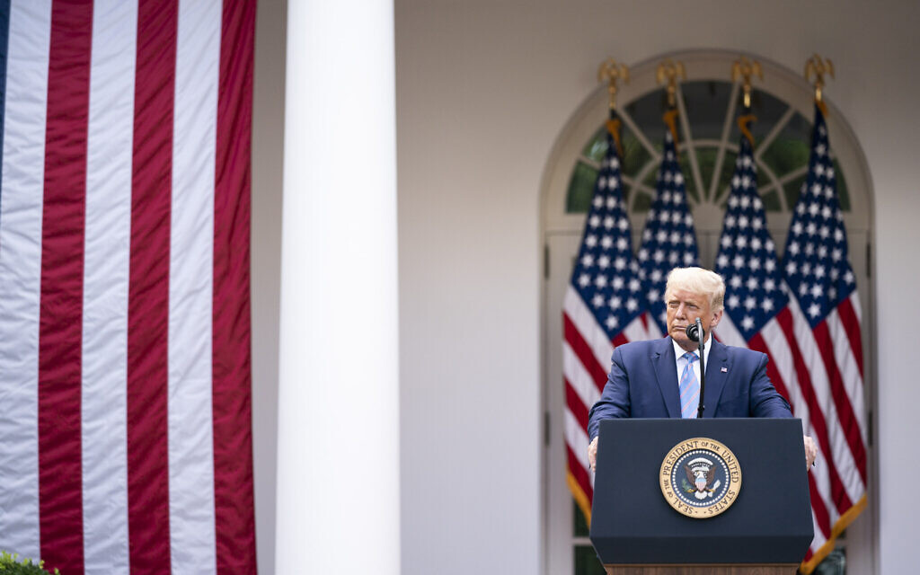 President Donald J. Trump on Monday, Sept. 28, 2020, in the Rose Garden of the White House. (Official White House Photo by Shealah Craighead)