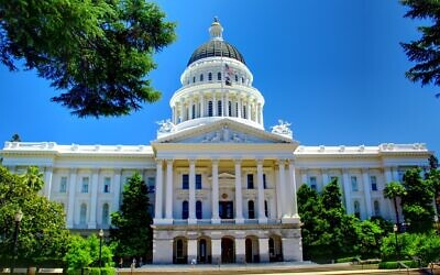 The California state capitol in Sacramento (Wikimedia Commons via JTA)