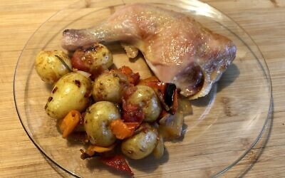 Easy roast chicken with Provençal potatoes (Photo by Jessica Grann)