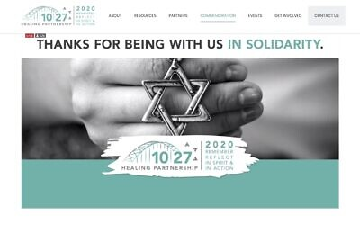 The virtual second year commemoration ceremony in honor of those murdered Oct. 27, 2018, was hosted by the 10.27 Healing Partnership. (Screenshot of the 10.27 Healing Partnership website)