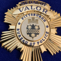 Act of Valor Award was given to Pittsburgh Police Officer Tim Matson for his bravery during the attack at the Tree of Life building  (Image provided by  Rauh Jewish Archives at the Heinz History Center)