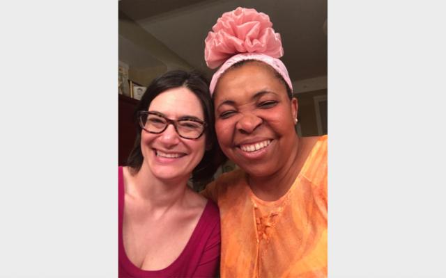 Julie Arnheim and Zita Iwuoha at GIFT's fashion show (Photo courtesy of Julie Arnheim)