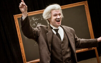 Matt Henderson as Albert Einstein (Photo by Laura Slovesko)