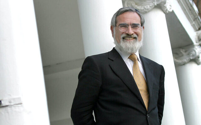 Jonathan Sacks, the Chief Rabbi of Great Britain and the Commonwealth, circa 2000. (Photo by John Downing/Getty Images via JTA)