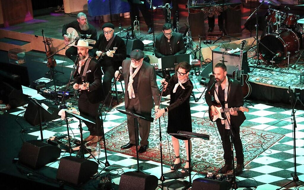 Brothers Lazaroff and a host of special guests including Rabbi James Stone Goodman perform at the ninth annual Hanukkah Hullabaloo on Saturday, Dec. 14, 2019, at the Grandel Theatre. (Photo by Bill Motchan)