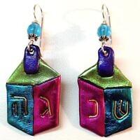 Dreidel earrings (Photo by Cathy Frank)