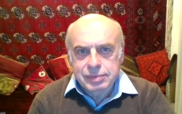 Natan Sharansky says he remains optimistic about Israel 34 years after his arrival in the Jewish state. Screenshot by Adam Reinherz
