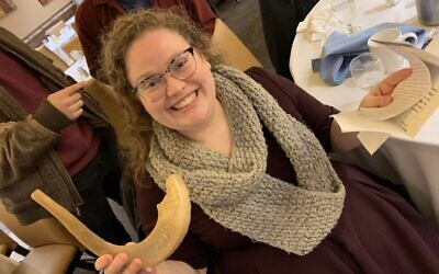 Rabbi Alicia Harris holds a shofar that has been in her family for six generations. Photo courtesy of Rabbi Alicia Harris