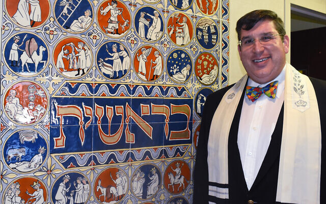 Rabbi Joshua Lief of Temple Shalom in Wheeling, which was West Virginia's first state capital and home to its oldest Jewish community. (Photo by Larry Luxner via JTA)