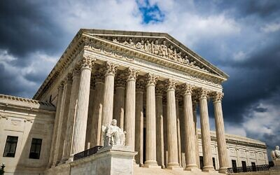 The front of the US Supreme Court building in Washington, DC. Photo by Bill Chizek