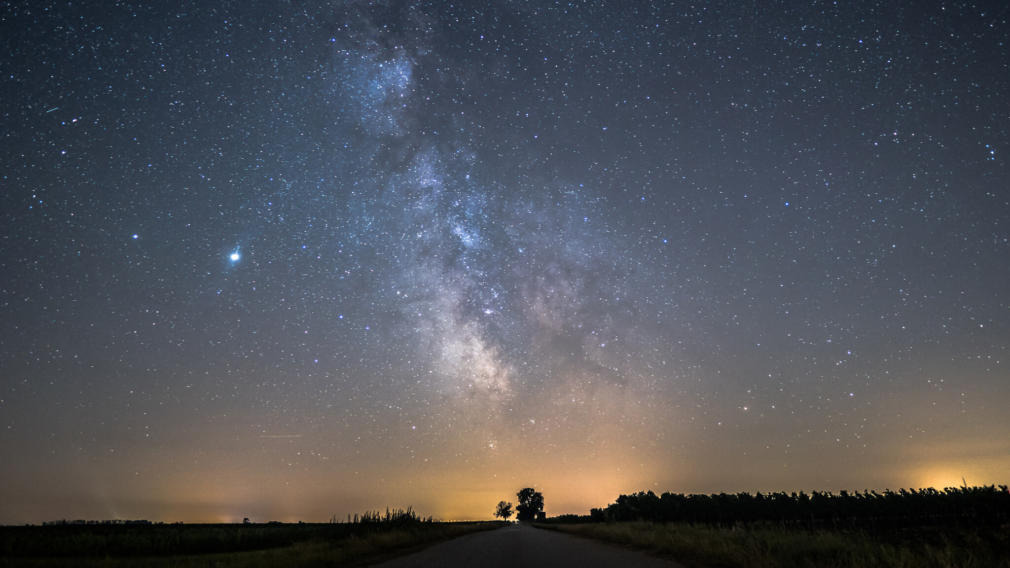 This beautiful Milky Way Time lapse was filmed close tho the Neusiedlersee in Austria. It was a phenomenal night capturing the Milky Way, Jupiter, Saturn and another phenomenon the glowing clouds. Photo by Smart-Photography