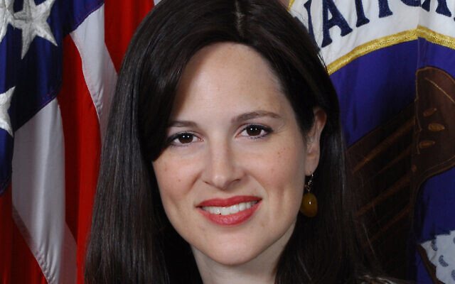 Anne Neuberger attended an Orthodox Jewish day school for girls in Brooklyn. (National Security Agency via JTA)