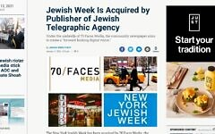 Screenshot from New York Jewish Week