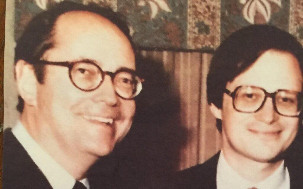 Dick Thornburgh (L) and David Ehrenwerth (Photo provided by David Ehrenwerth)