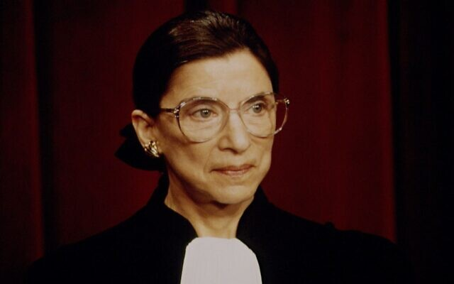 Supreme Court Justice Ruth Bader Ginsburg was a political and cultural giant on and off the bench. (Jeffrey Markowitz/Sygma via Getty Images via JTA)