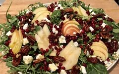 Pear and pomegranate salad (Photo by Jessica Grann)