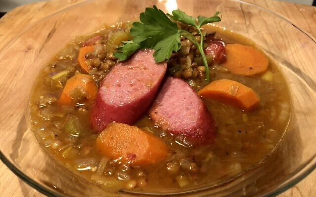 French lentil and sausage soup (Photo by Jessica Grann)