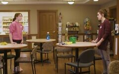 "A scene from ""Thanks to Her"" filmed inside the Charles Morris Nursing and Rehabilitation Center (Image provided by Sam Orlowski)"
