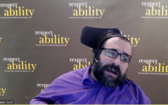 Disability advocate and inclusion expert Matan Koch shares thoughts during the Feb. 24 program. Screenshot by Adam Reinherz