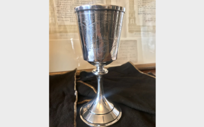 Kiddush cup returned to Rodef Shalom (Photo provided by Matthew Falcone)